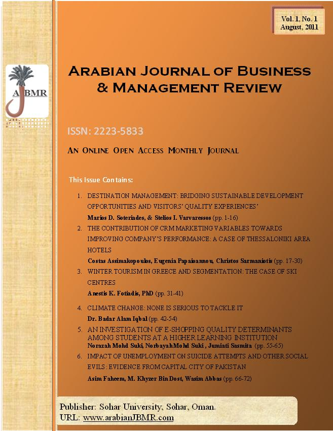 arabian journal of business and management